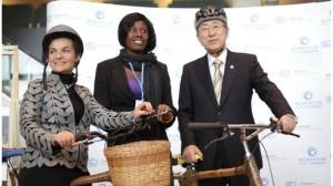 Christiana Figueres with UN secretary general Ban Ki-moon