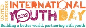 UN Youthflash IYD 2012 Slogan Banner