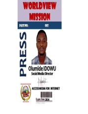 Press Pass Olumide met barcode