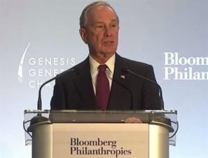 Genesis Prize recipient Michael Bloomberg (YouTube capture)