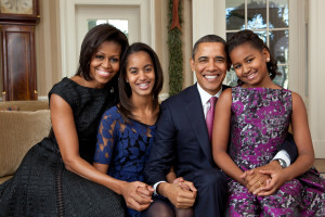 White House Barack Obama Family Portrait 2011