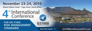 RISK Managements Standard G31000 conference 2014