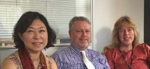trainers Yunae Yi, Michael Stanley-Jones and Isabell Kempf