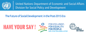 UNDP Have your say logo banner