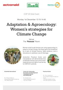 WM CoP20 SideEvent-Adaptation & Agroecology-Women's strategies for CC