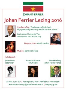 Flyer Johan Ferrier Lezing 20 Mei 2016