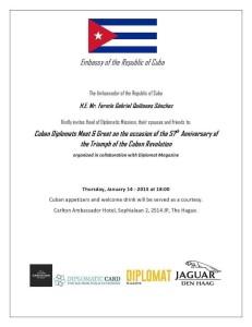 Ambassador Of Cuba Invitation