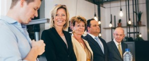 Gerrit Zalm (Voorzitter van de Raad van Bestuur van ABN AMRO), Jan-Kees de Jager (CFO van KPN), Kajsa Ollongren (wethouder en locoburgemeester van Amsterdam) en Neelie Kroes