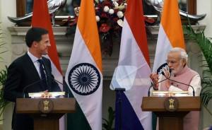 India P-Min Modi & dutch P-Min Mark Rutte