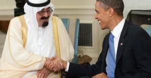 President Barack Obama  Saudi King Abdullah