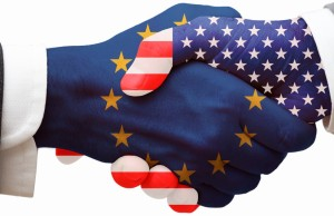 USA EU YES Handshaking