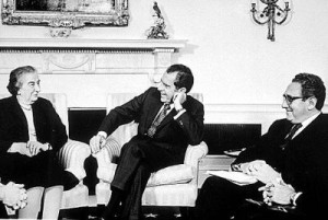 WM Israel Pics US President Richard Nixon and Golda Meir