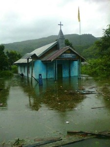 Church Submerged in Chadong village