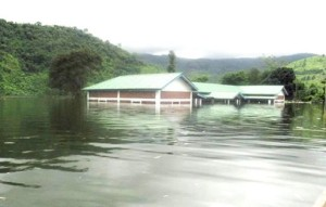 School in Chadong village submerged by mapithel dam 25  July