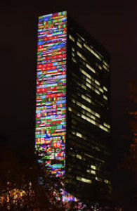 UN 70 Year all flags