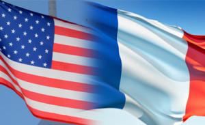 usa france flag