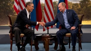 US Obama and Russian Putin