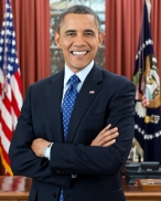The US President Barack OBAMA Official Portrait
