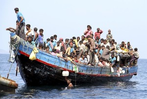 Rohingya refugees from Myanmar sail to seek employment in Malaysia