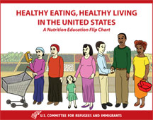 Healthy Eating, Healthy Living Clip Art