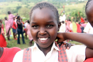 A young student at Kakenya Center for Excellence