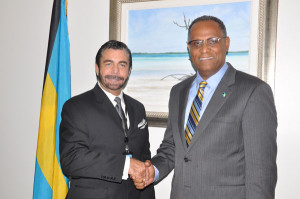 Author Dr. J. Scott Moore, paid a courtesy call on the Minister for Grand Bahama, the Hon. Dr. Michael Darville,  RENOWNED-AUTHOR-PAYS-COURTESY-CALL