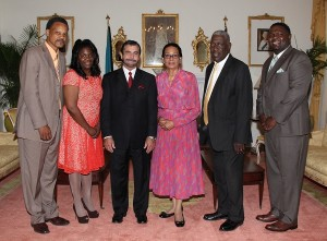 Dr. J. Scott Moore Courtesy Call by Her Excellency Governor General Dame Marguerite the Bahamas