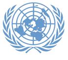 UN logo bleu